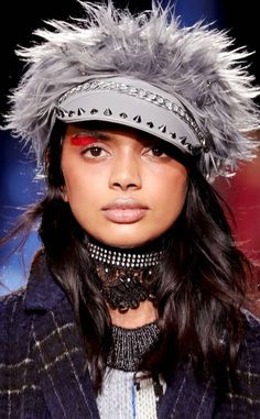 Desigual from Best Beauty From NYFW Fall 2017  Courtesy of Mac Cosmetics.