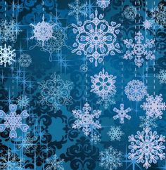 5 Blue Winter Snowflake Vector Backgrounds - http://www.welovesolo.com/5-blue-winter-snowflake-vector-backgrounds/