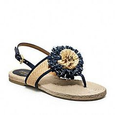 Love the flower coach 2013 flip flops