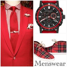 Menswear Red Plaid