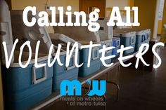 WE need YOU to serve the community