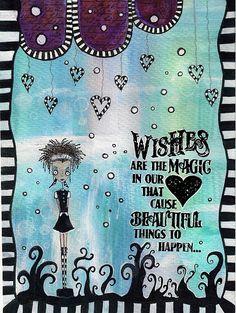 art journal - wishes