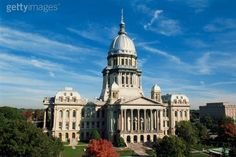 Capitol of Illinois in Springfield. With a total height of 361 ft (110 m), the Illinois capitol is the tallest non-skyscraper capitol, even exceeding the height of the United States Capitol in Washington, D.C.. The only state capitols taller than it are the non-classical designs of Louisiana and Nebraska, whose governments opted for modern structures.