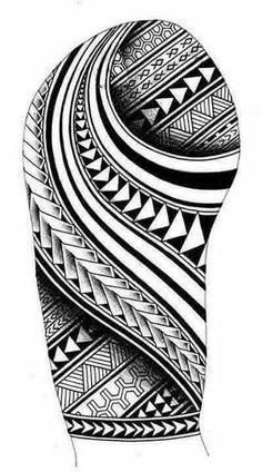 Samoan inspired sleeve tattoo design with Maori Koru shapes - Tribal Poly . - Samoan inspired sleeve tattoo design with Maori Koru shapes – Tribal Polynesian tattoos and ideas - Polynesian Tattoo Sleeve, Polynesian Tattoos Women, Polynesian Tattoo Designs, Maori Tattoo Designs, Hawaiian Tattoo, Best Tattoo Designs, Polynesian Art, Tattoo Design For Men, Geometric Tattoo Sleeve Designs