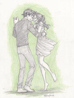 Harry+Ginny ~ artwork by burdge