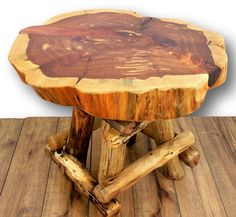 Reclaimed wood stool Reclaimed wood end table by WoodzyShop