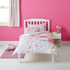 Buy little home at John Lewis Little Fairy Butterflies Duvet Cover and Pillowcase Set Online at johnlewis.com