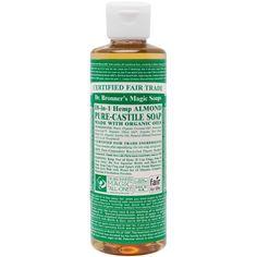 Dr. Bronner's Fair Trade & Organic Castile Liquid Soap - (Almond, 8 oz) Dr. Bronner's http://www.amazon.com/dp/B00CI51A5E/ref=cm_sw_r_pi_dp_axRVvb0GE80MA