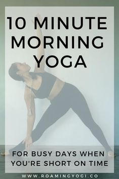 10 Minute Morning Yoga for Busy Days! This class is perfect for those busy days … 10 Minute Morning Yoga Yin Yoga, Bikram Yoga, Ashtanga Yoga, Vinyasa Yoga, Yoga Meditation, Yoga Day, Kundalini Yoga, Yoga Beginners, Beginner Yoga