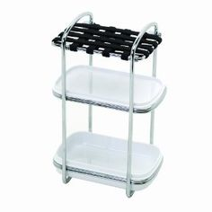 Zenith Stretch and Store Storage Valet, Chrome by Zenith Products. $15.97. Sturdy, rust resistant chrome wire frame with built in handle. Plastic tray and elastic grid are both removeable for easy cleaning. Includes two, clear plastic storage trays. Mildew resistant elastic top makes storing awkward products easy. Zenith provides shower organization in a wide range of designs to meet all your bathroom needs. the stretch and store is an innovative new way to organize a m...