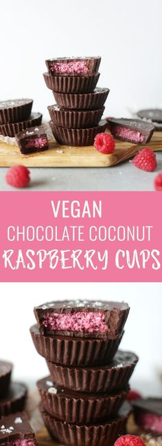 Vegan chocolate raspberry coconut cups – Nutritional Foodie – Cook It Valentine's Day Food Brownie Desserts, Oreo Dessert, Mini Desserts, Coconut Dessert, Coconut Cups, Vegan Chocolate, Chocolate Recipes, Raspberry Chocolate, Chocolates