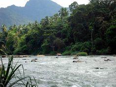 """Kelani River, Kitulgala, Sri Lanka  Whitewater Rafting where """"The Bridge on the River Kwai"""" was filmed."""
