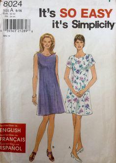 Simplicity 8024 UNCUT Misses Dress by Lonestarblondie on Etsy