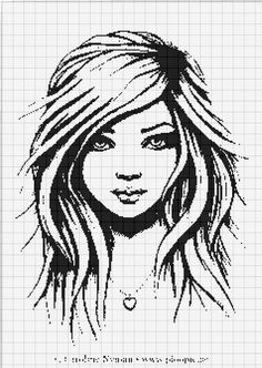 Dziewczyna z Długimi Włosami i Naszyjnikiem z Sercem