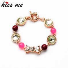 4f0d837106c7 New Styles 2017 Statement Fashion Jewelry Elegant Multi Resin Beaded  Bowknot Charming Bangles   Bracelets Pulseras
