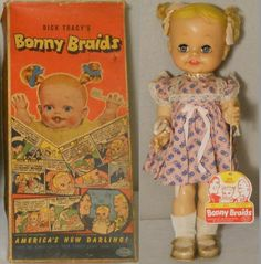 IDEAL: 1951 Dick Tracy's BONNY BRAIDS Baby Doll #vintage #toys