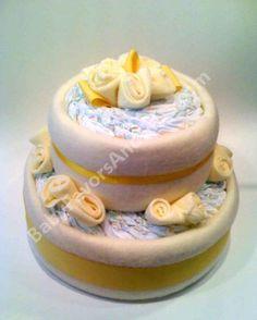 Yellow Roses Diaper Cake - 9990041 - Neutral - Diaper Cakes - by Babyfavorsandgifts