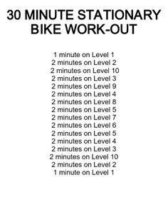 30 minute stationary bike workout... (TOTAL MILEAGE = 6.15 mi)