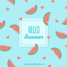 Delicious summer fruits background Free Vector Summer Design, Backgrounds Free, Hello Summer, Summer Fruit, Vector Free, About Me Blog, Vector Background, Illustration, Vectors