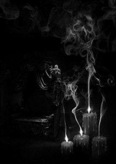 Smoke and candlelight