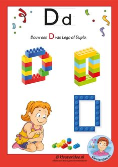 How to build a W with Lego or Duplo, kindergarten expert, free printable Lego Letters, Letters For Kids, Teaching Letters, Preschool Letters, Alphabet Letters, Letters Kindergarten, Ps Letter, Letter P Crafts, Alphabet Crafts