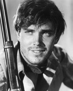 Jeffrey Hunter, 1956, publicity shot for The Searchers  (n.b. the original captain of the Enterprise)