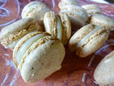 Diary of a Mad Hausfrau: Macaron Monday: Orange Ginger Spice French Macarons with White Chocolate Ganache Filling