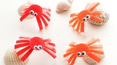 DIY child - fun little crabs Made Goods, Diy Projects To Try, Art School, Montessori, Creations, Animation, How To Make, Kids, Spiders