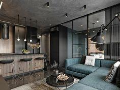 Small Apartment Interior, Small Apartment Design, Apartment Living, Living Room Modern, Living Room Designs, Loft Design, House Design, Interior Design Instagram, Loft Interiors