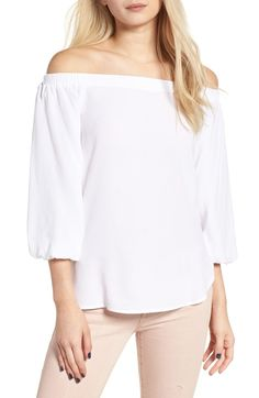f7a07e9bbcd5aa Main Image - Soprano Bubble Sleeve Off the Shoulder Top Off Shoulder Blouse,  Off The
