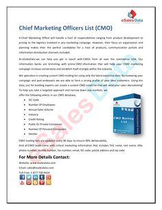 chief-marketing-officers-list by kim smith via Slideshare