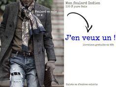 comment mettre foulard homme Comment Mettre Un Foulard, Cadeau Pas Cher,  Nouer Foulard, 80d3160dc23