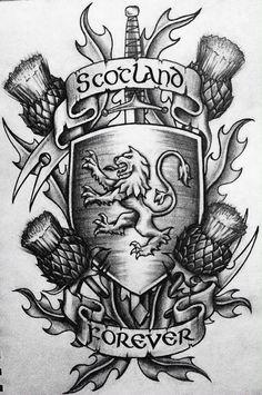 scottish tattoo design more scotland forever scottish celtic tattoo . Tatuajes New School, Lion Tattoo Images, Scotland Tattoo, Scotland History, Geniale Tattoos, Scottish Clans, Scottish Symbols, Scottish Gaelic, Tattoo Designs