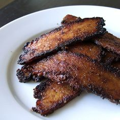 so many amazing recipes on this blog: The Copycat Cook...like this tempeh bacon
