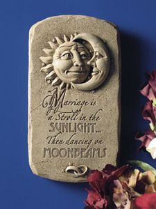 """""""Used as a wedding gift or anniversary gift, the sun and moon say it all. An inspirational plaque for newlyweds, and fond memories for those who have spent a lifetime together."""" #Sunlight #Marriage #CarruthStudio"""