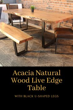 The Oliver dining table is a freeform table made out of solid acacia wood. Live Edge Wood, Live Edge Table, Natural Wood Table, Elements Of Nature, Wood Tables, Acacia Wood, Dinner Table, Fur, Decor Ideas
