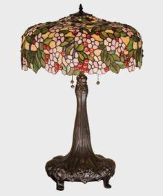 Cherry-Blossom-Table-Lamp-31-inches-Tall-Tiffany - For Sale Now - Free Shipping $935.75