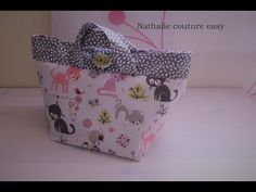 Tuto Couture Madalena - Coudre Petit Cabas - YouTube