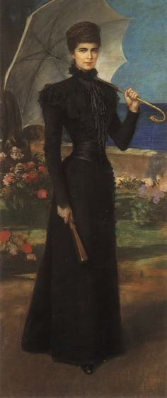 "Elisabeth Amalie Eugenie ""Sissi"" Austria (1837-assassinated 10 September 1898) wife of Emperor Franz Joseph I, in Corfu"