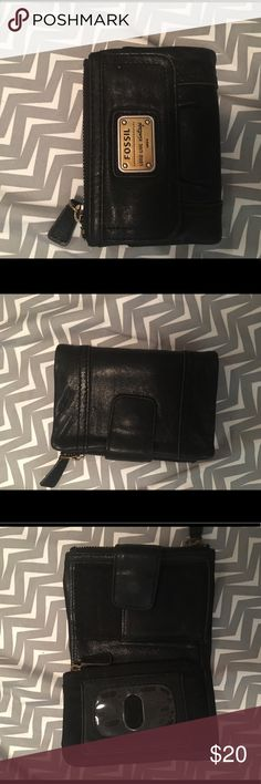 Fossil Wallet Black leather fossil wallet Fossil Bags Wallets