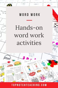 Word work is just what it sounds like—students actively engage in working with words. Word work activities help students become better readers and writers. There are lots of ways to engage students in word work in your classroom. Let's look at some of the best activities for word work centers as well as word work ideas that students can do at home.