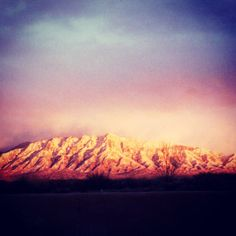 Sandia Mountains in Albuquerque, New Mexico...from 2-3 until 5 years old