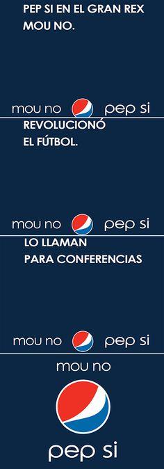Pepsi explota a Pep & Mourinho en su publicidad. Defender una visión de mundo