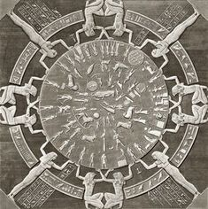 The sculptured Dendera zodiac (or Denderah zodiac) is a widely known Egyptian…: Ancient Egyptian Art, Ancient Aliens, Ancient History, European History, Ancient Greece, American History, Egyptian Isis, Le Nil, Ancient Artifacts