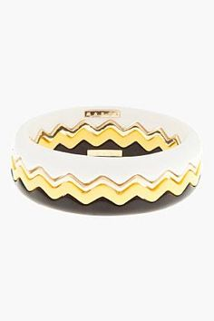 our Color Zig Zag Resin Bangle Set... | GonPin.me
