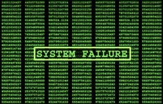 This picture expresses a system failing which relates to a worry of robotic surgery.