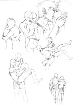 How to Draw the Human Body – Study: Couples Posing for Comic / Manga Character Reference