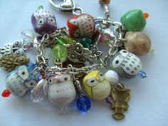 Owl charm bracelet ~ kadootje77 @ etsy............. :O