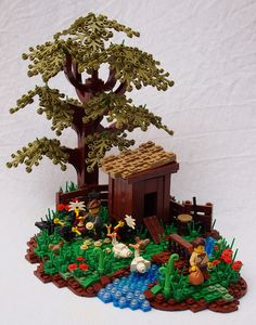 Such a wonderful vignette. I love the tree and the birds especially.