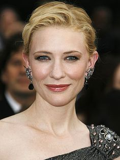 Australian actress Cate Blanchett (born 1969).  Blanchett's portrayal of Katharine Hepburn in Martin Scorsese's THE AVIATOR (2004) brought an Academy Award for Best Supporting Actress.  Other notable roles:  elf queen, Galadriel, in LORD OF THE RINGS triology (2001-2003); music icon, Bob Dylan in I'M NOT THERE (2007); murdered Irish investigative reporter, Veronica Guerin in VERONICA GUERIN (2007)